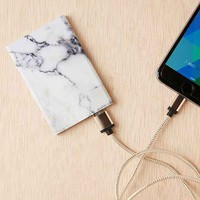 Slim Marble Portable Power Charger