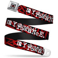 My Chemical Romance Men's  Bullets Scattered Seatbelt Buckle Belt