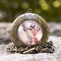 Little Fox Prince Locket Necklace