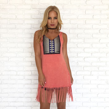 Mayan Fringe Tunic Top