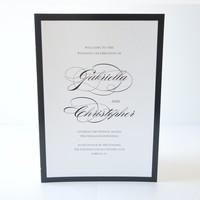 Black and White Elegant Wedding Program - DEPOSIT