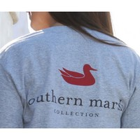 Authentic Tee in Gray by Southern Marsh