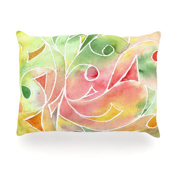"Rosie Brown ""Gift Wrap"" Multicolor Pastel Oblong Pillow"