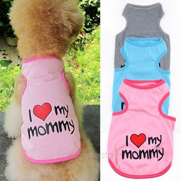 deals] Pet Dog Cat Cotton Vest Clothes T Shirt Coat Puppy Costume Apparel Hot sale = 5988106305