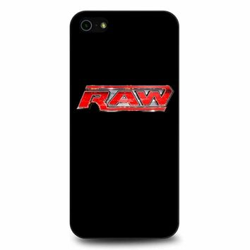 Wwe Raw Logo 2 iPhone 5/5s/SE Case