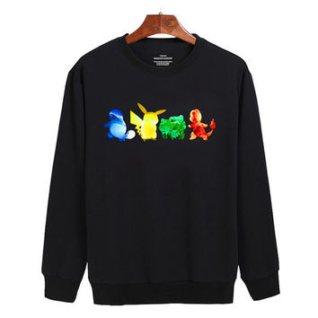 Pokemon Water Electricity Earth Fire Sweater sweatshirt unisex adults size S-2XL