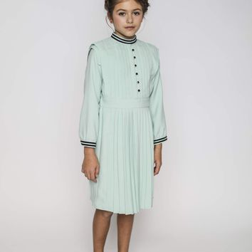 Aisabobo Girls Mint Vivienne Pleated Dress