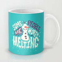 Frozen Olaf: Some People Are Worth Melting For Mug by Risa Rodil