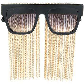 Gold Fringe Sunglasses by Stella McCartney