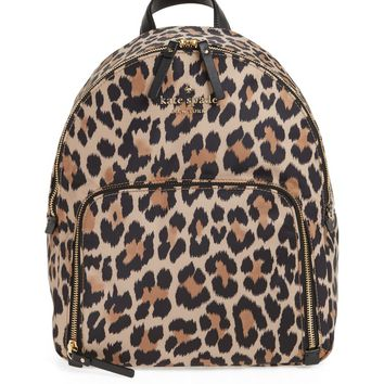 kate spade new york watson lane - hartley leopard print backpack | Nordstrom