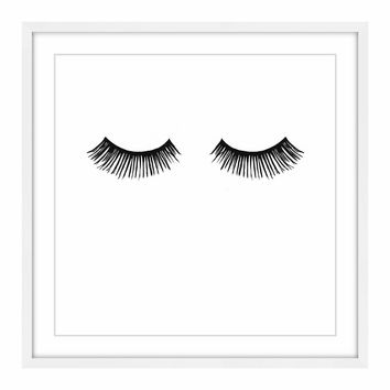 Framed Long Lashes Print