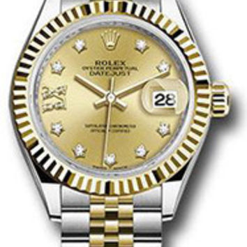 Rolex - Datejust Lady 28 - Stainless Steel and Yellow Gold - Fluted Bezel