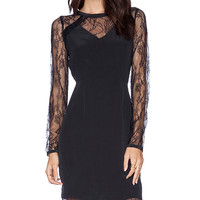 La Made Lace Shery Dress in Black