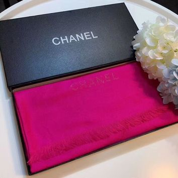 Chanel Keep Warm Scarf Smooth Skin-friendly Scarves velvet Shawl #1