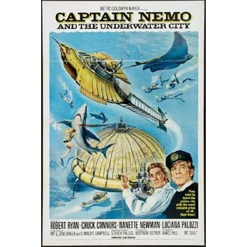 Captain Nemo poster Metal Sign Wall Art 8in x 12in
