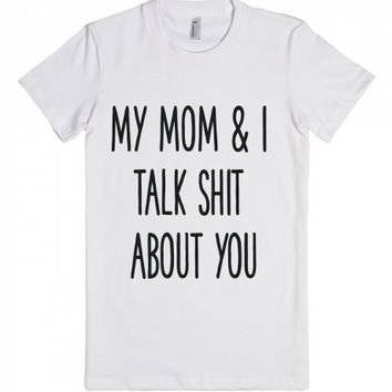 Mommy & Me-Unisex White T-Shirt