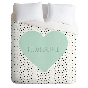 Allyson Johnson Hello Beautiful Heart Duvet Cover