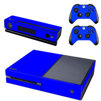 Blue decal for console xbox one skin sticker