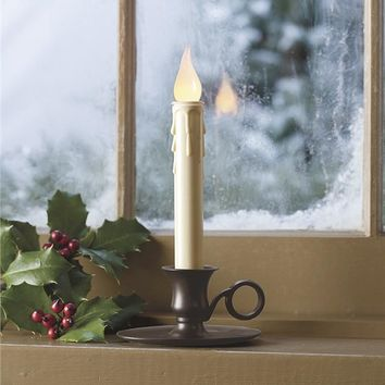 Battery-Operated Cordless Classic Candlestick With Auto Timer | Housewarming Gifts