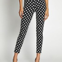 1981 High-Rise 3 Zip Crop Jeans with Polka Dots