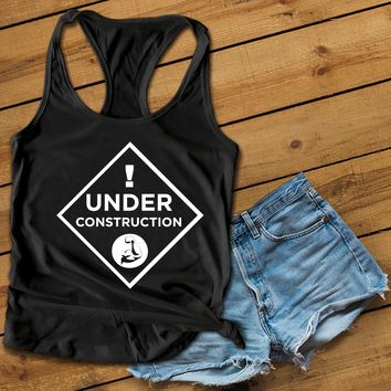 Under Construction Women's Ideal Racerback Tank