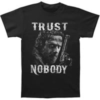 Walking Dead Men's  Trust Nobody T-shirt Black Rockabilia