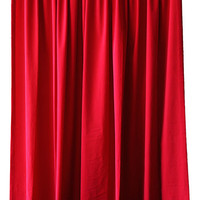 Custom Cheap Hollywood Theatrical Movie Theater Decor Wall Display Prop Drapes Cherry Red Velvet 108 Inch Curtain Long Panels