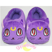 [Sailor Moon Luna]Fleece Home-wear Slippers Shoes SP151624 from SpreePicky