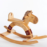 Kids Rocking Horse wooden natural toy from europe