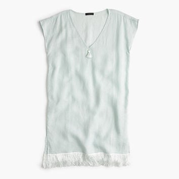 J.Crew Womens Linen Cover-Up With Fringe