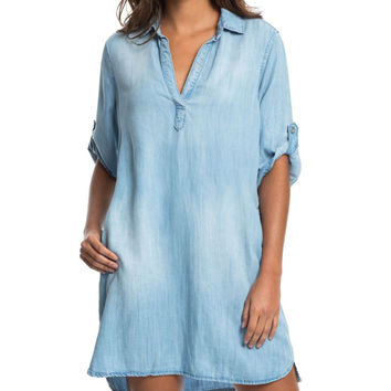 Relaxed Denim Shift Dress - RESORT COLLECTION