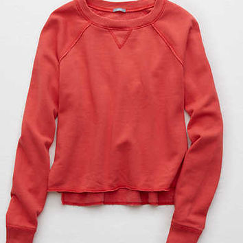 Aerie Snow Day Sweatshirt, Red