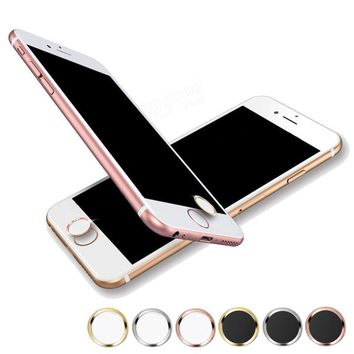 10Pcs For Apple Phone Home Key Stick Button Sticker for iPhone 6 6s Plus Support Touch Fingerprint Recognition Mobile Phone Case