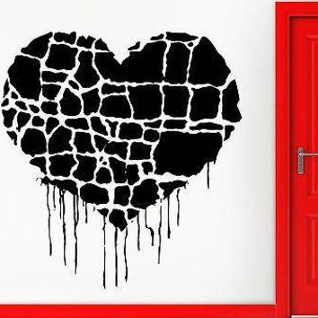 Wall Sticker Vinyl Decal Heart Romantic Grunge Gothic Cool Decor Unique Gift (z1065)