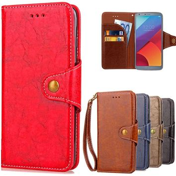 Phone Case For Coque LG G6 Case Book Style Pu Leather + Silicone Cover For LG G 6 LGG6 5.7 inch Mobile Phone Shell Coque