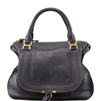 Marcie Large Shoulder Bag, Black - Chloe