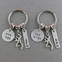 Buck and Doe Keychain Set - Set of 2 Couples Keychains - Her Buck His Doe Keychains - Boyfriend Girlfriend Gift - Husband Wife Gift