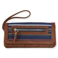 Blanket Stripe Snap-Flap Wallet