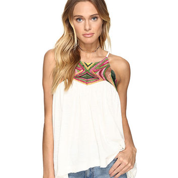 Free People Beach Date Tank Top Ivory Combo - Zappos.com Free Shipping BOTH Ways
