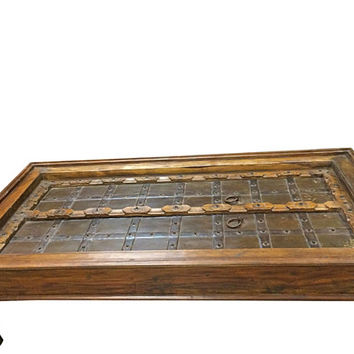 Antique Coffee Table Rustic Doors Coffee Table- Boho Eclectic Inspired Indian Furniture