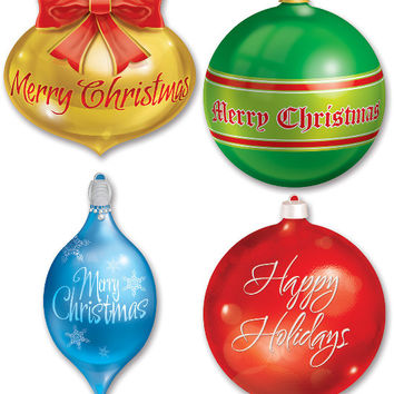 Packaged Christmas Ornament Cutouts Case Pack 12