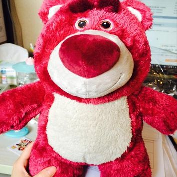 Original Toy Story Lotso Strawberry Bear Q Cute Kawaii Stuff Plush Toy Girl Baby Birthday Gift