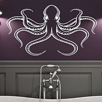 Wall Decal Octopus Tentacles Fish Deep Sea Ocean Animals Vinyl Sticker Decals Home Decor Art Bedroom Design Interior C90