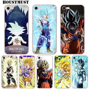 Hot sale Dragon Ball Z Goku Soft Transparent Phone Case Cover Coque for Apple iPhone X 5 5S SE 6 6s 7 8 Plus