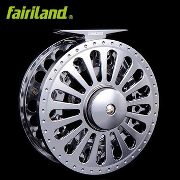 "7/8 100mm/3.94"" 3BB METAL fly fishing reel PRECISION MACHINED fly reel from BAR-STOCK ALUMINUM w/ INCOMING CLICK"