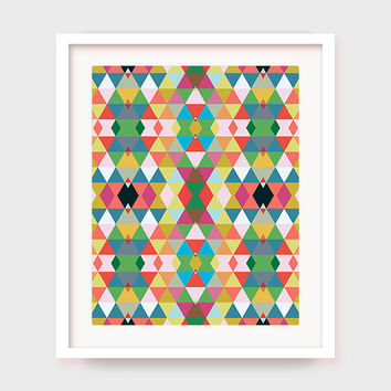 Modern Geometric Art Print, Bedroom Wall Art, Geometric Poster Decor, Printable Wall Art, Living Room Artwork, Home Art, Instant Download
