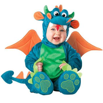 Halloween Xmas Animal Baby Cosplay Romper Dinosaur Penguin Monkey Shark Lobster Crab Costumes for Baby Fancy Siamese Jersey Gift