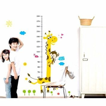 Kids Height Chart Jiraffe Wall Sticker