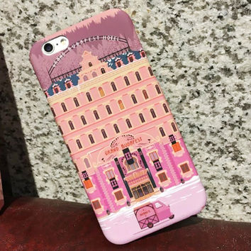 Cartoon Wes Grand Budapest Hotel Case For iphone 6 Case For iphone 6S 6 Plus Hard PC Cover Protect Phone Cases Fundas Capa Coque
