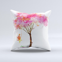 The Summer Swing ink-Fuzed Decorative Throw Pillow